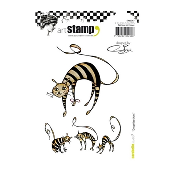Carabelle Studio DES PTITS CHATS Cling Stamp sa60367