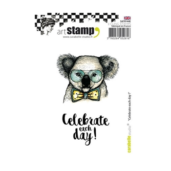Carabelle Studio CELEBRATE EACH DAY Cling Stamp sa70144e