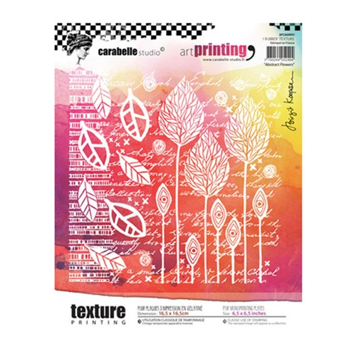 Carabelle Studio ABSTRACT FLOWERS Art Printing Texture Plate Square apca60003 Preview Image