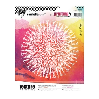 Carabelle Studio ROSACE Art Printing Texture Plate Round apro60006