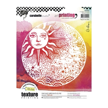 Carabelle Studio RAYONS DE SOLEIL Art Printing Texture Plate Round apro60001