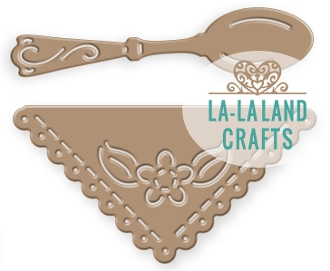 La-La Land Crafts SPOON AND NAPKIN Die 8362 zoom image