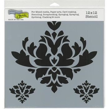 The Crafter's Workshop BROCADE DECOR 12x12 Stencil tcw793
