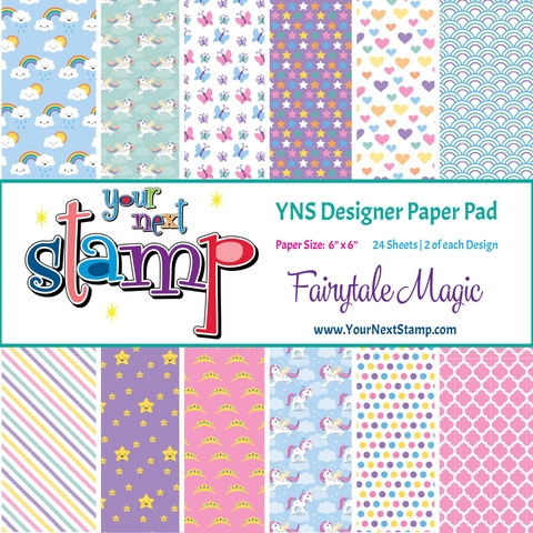 Your Next Stamp FAIRYTALE MAGIC 6X6 Paper Pack ynspp019 zoom image