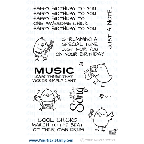 Your Next Stamp MUSIC CHICKS Clear cyns587 Preview Image