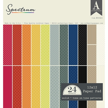 Authentique SPECTRUM 12 x 12 Paper Pad spcw03