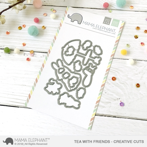 Mama Elephant TEA WITH FRIENDS Creative Cuts Steel Dies zoom image