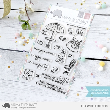 Mama Elephant Clear Stamp TEA WITH FRIENDS