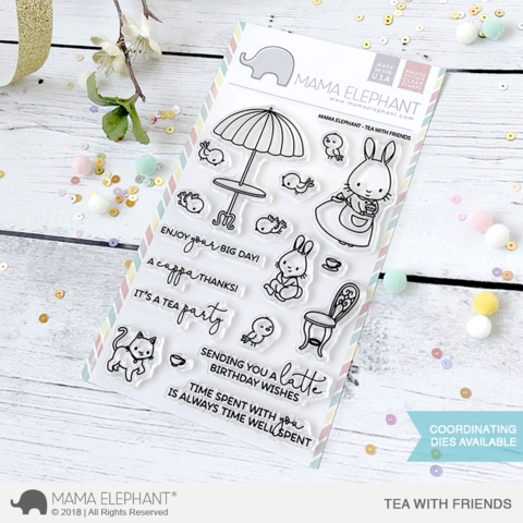 Mama Elephant Clear Stamp TEA WITH FRIENDS  zoom image