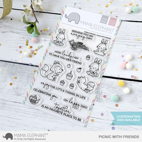 Mama Elephant Clear Stamp PICNIC WITH FRIENDS  zoom image