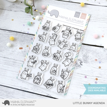 Mama Elephant Clear Stamp LITTLE BUNNY AGENDA