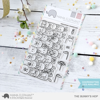 Mama Elephant Clear Stamp THE BUNNY'S HOP