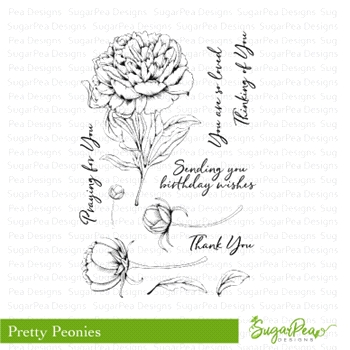 SugarPea Designs PRETTY PEONIES Clear Stamp Set spd-00262