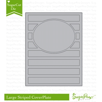 SugarPea Designs LARGE STRIPED COVERPLATE SugarCuts Die spd-00263