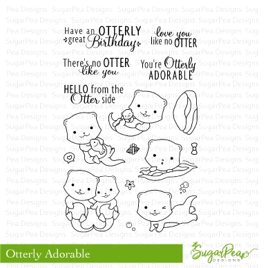 SugarPea Designs OTTERLY ADORABLE Clear Stamp Set spd-00266 zoom image