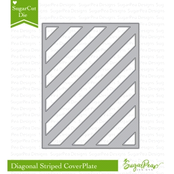 SugarPea Designs DIAGONAL STRIPED COVERPLATE SugarCuts Die spd-00268