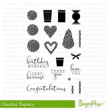 SugarPea Designs TOPIARY GARDEN Clear Stamp Set spd-00269 zoom image