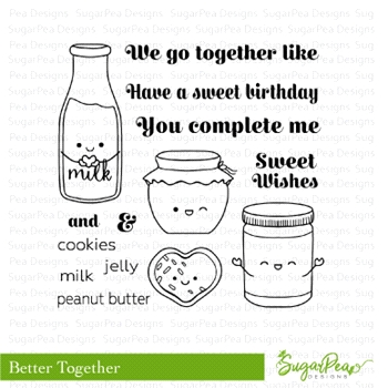 SugarPea Designs BETTER TOGETHER Clear Stamp Set spd-00271