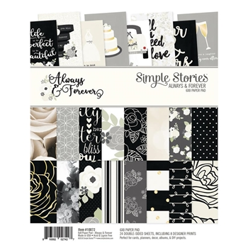 Simple Stories ALWAYS & FOREVER 6 x 8 Paper Pad 10072