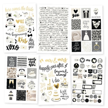 Simple Stories ALWAYS & FOREVER 4 x 6 Stickers 10075