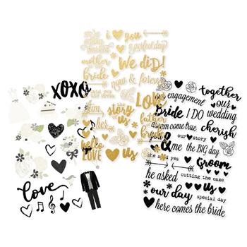Simple Stories ALWAYS & FOREVER Clear Stickers 10076