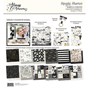 Simple Stories ALWAYS & FOREVER 12 x 12 Collector's Essential Kit 10079