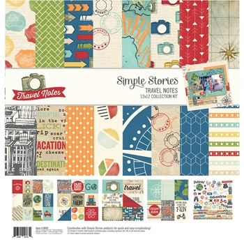 Simple Stories TRAVEL NOTES 12 x 12 Collection Kit 10093