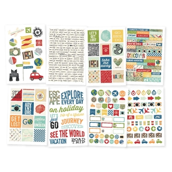 Simple Stories TRAVEL NOTES 4 x 6 Stickers 10110