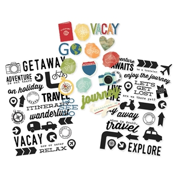 Simple Stories TRAVEL NOTES Clear Stickers 10111