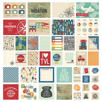 Simple Stories TRAVEL NOTES Snap Cards 10112