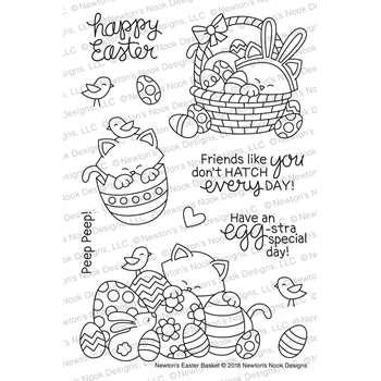Newton's Nook Designs NEWTON'S EASTER BASKET Clear Stamp Set NN1802S02