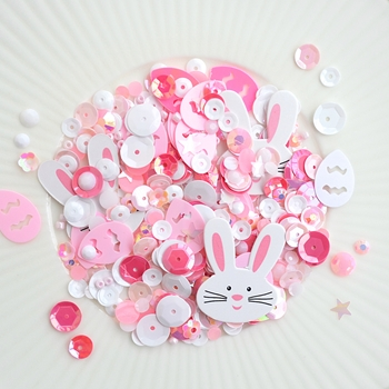 Little Things From Lucy's Cards EASTER BUNNY Sparkly Shaker Mix LB157
