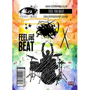 Visible Image FEEL THE BEAT Clear Stamp Set VIS-FTB-01