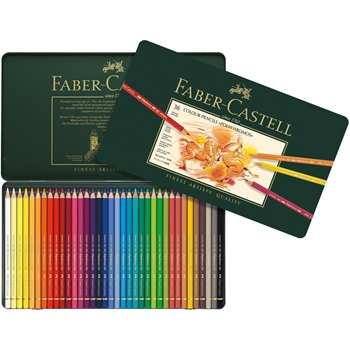 Faber-Castell POLYCHROMOS COLORED PENCILS 36 Piece Set in Tin 110036