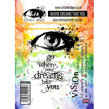 Visible Image WHERE DREAMS TAKE YOU Clear Stamp Set VIS-WDT-01