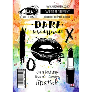 Visible Image DARE TO BE DIFFERENT Clear Stamp Set VIS-DTB-01