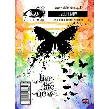 Visible Image LIVE LIFE NOW Clear Stamp Set VIS-LLN-01