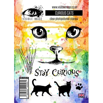 Visible Image CURIOUS CATS Clear Stamp Set VIS-CUS-01
