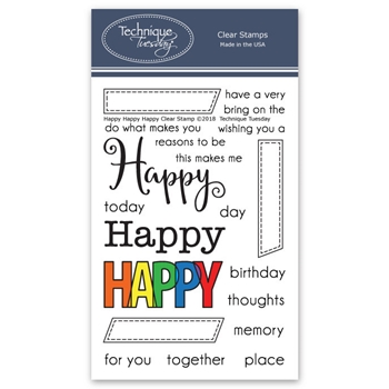 Technique Tuesday HAPPY HAPPY HAPPY Clear Stamps 02271