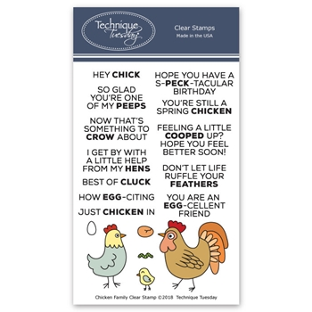 Technique Tuesday CHICKEN FAMILY Clear Stamps 02629