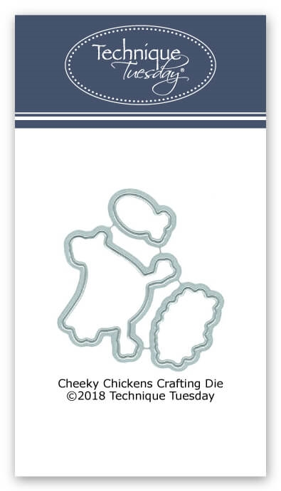 Technique Tuesday CHEEKY CHICKEN Crafting Dies DIY 02622 zoom image