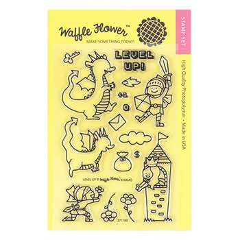 Waffle Flower LEVEL UP Clear Stamp Set 271160