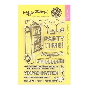 Waffle Flower LIMO RIDE Clear Stamp Set 271159