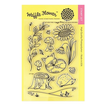 Waffle Flower AUTUMN TIME Clear Stamp Set 271156