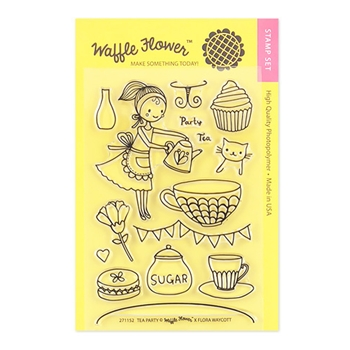 Waffle Flower TEA PARTY Clear Stamp Set 271152