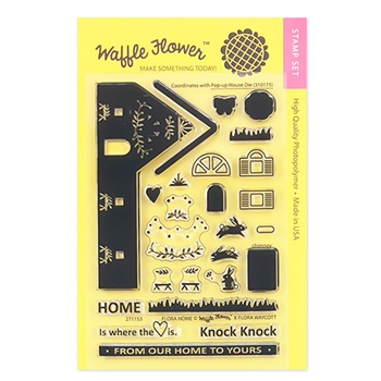 Waffle Flower FLORA HOME Clear Stamp Set 271153