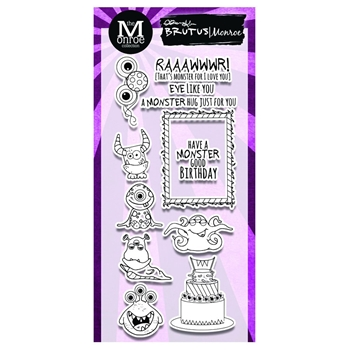 Brutus Monroe Clear Stamps MONSTER PARTY bru4660