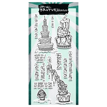 Brutus Monroe Clear Stamps TOPSY CAKES bru4639