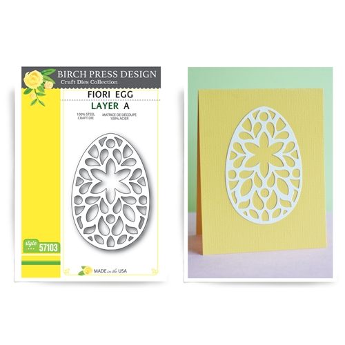 Birch Press Design FIORI EGG LAYER SET Craft Dies 56068 Preview Image