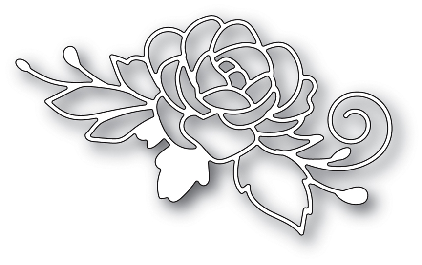 Memory Box BLOOMING ROSE POPPY STAMPS Craft Die 2013 zoom image